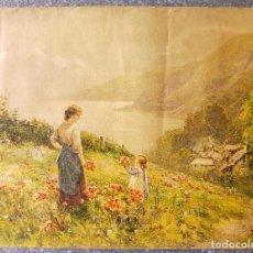 Varios objetos de Arte: ERNEST WALBOURN - PAYSAGE PAR WALBOURN - COPYRIGTH 1922. Lote 130162587