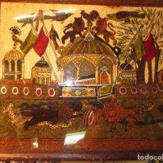 Varios objetos de Arte: ANTIGUA PINTURA OLEO ORIGINAL OTTOMANO EN CRISTAL. Lote 130236090