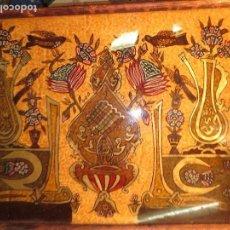 Varios objetos de Arte: MUY ANTIGUA PINTURA OTTOMANO EN CRISTAL ORIGINAL 100 %. Lote 130236330