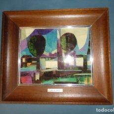 Varios objetos de Arte: ESMALTE AL FUEGO. REPRODUCCION JOSE LUIS MARLEZ AÑOS 70. Lote 130242954