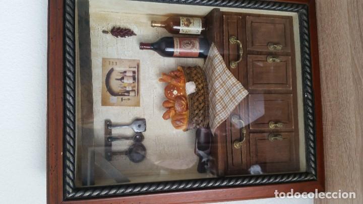 Varios objetos de Arte: MAGNIFICO Y ANTIGUIO CUADRO DECORACION DE COZINA HECHO A MANO ANOS 50,60 MAD FRANCE - Foto 9 - 130380790
