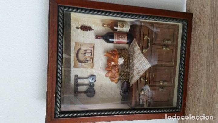 Varios objetos de Arte: MAGNIFICO Y ANTIGUIO CUADRO DECORACION DE COZINA HECHO A MANO ANOS 50,60 MAD FRANCE - Foto 12 - 130380790
