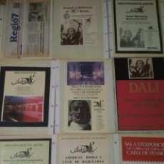 Varios objetos de Arte: LOTE DE PROGRAMAS, FOLLETOS Y FOTOS ORIGINALES DE EXPOSICIONES DE DALÍ. Lote 130566606
