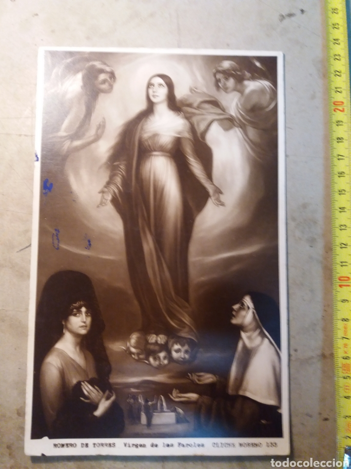 JULIO ROMERO DE TORRES , VIRGEN DE LOS FAROLES. (Arte - Varios Objetos de Arte)
