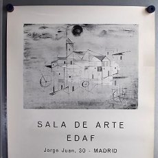 Varios objetos de Arte: CARTEL MANUEL BAEZA EN SALA DE ARTE EDAF - MADRID, 1970 - 70 X 49 CM. Lote 131300675