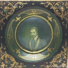 Varios objetos de Arte: ANTIGUO CUADRO EN MINIATURA DE CHARLES DE LORRAINE, DUQUE DE MAYENNE (FRANCIA). Lote 131630586