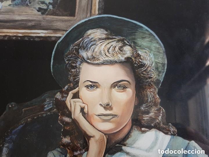 Varios objetos de Arte: RETRATO DE MUJER JOVEN ORIGINAL VINTAGE ENMARCADO Y FIRMADO PINTURA DE ACRÍLICO - Foto 2 - 131999634