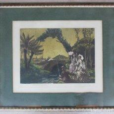 Varios objetos de Arte: ALREDEDORES DE LA BARCELONA DE 1840, MUNTANÉ. Lote 132738298