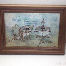Varios objetos de Arte: ORIGINAL ESMALTE DE ROSA GELPI MONASTERIO - BARCELONA 1943. Lote 133564170