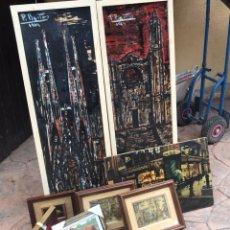Varios objetos de Arte: VARIOS CUADROS ANTIGUOS. Lote 133614854