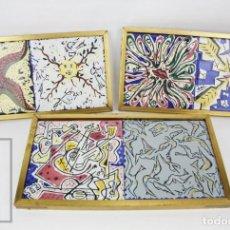 Varios objetos de Arte: SERIE COMPLETA DE 6 AZULEJOS DE CERÁMICA DISEÑADOS POR SALVADOR DALÍ - ADEX, AÑO 1954. Lote 133731742