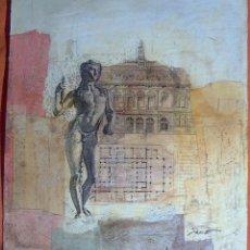 Varios objetos de Arte: COLLAGE SOBRE CARTON, FIRMADO JANE. Lote 148172776