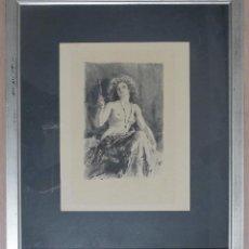 Varios objetos de Arte: DESNUDO CON ESPEJO. Lote 134244990