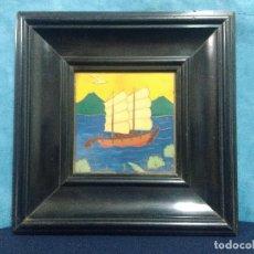 Varios objetos de Arte: BARCO MARINA SOBRE COBRE. Lote 134280682