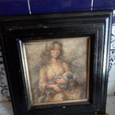 Varios objetos de Arte: BONITO CUADRO MUJER CON NIÑO.. Lote 134334162