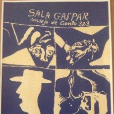 Varios objetos de Arte: CARTEL LITOGRAFICO EXPOSICIÓN ARRANZ BRAVO, BARTOLOZZI, LLIMOS Y GERAD SALA EN 1967. Lote 139328722