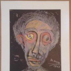 Varios objetos de Arte: CARTEL LITOGRÁFICO JOSEP MARÍA DE SUCRE GALERIA DAU AL SET EN 1974. Lote 134830290
