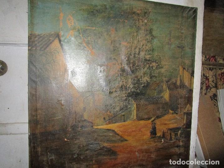Varios objetos de Arte: ENORME PINTURA ANTIGUA OLEO LIENZO SIGLO XIX XVIII 150 X 120 - Foto 13 - 82969376