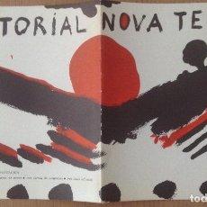 Varios objetos de Arte: PROGRAMA DE NOVA TERRA EDITORIAL ILUSTRADO POR GUINOVART EN 1970. Lote 134924878
