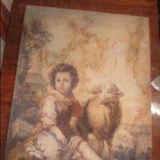 Varios objetos de Arte: EXCELENTE Y ANTIGUA PINTURA MAS DE 100 AÑOS PASTORCILLO CON OVEJAS MUCHA CALIDAD. Lote 135220946