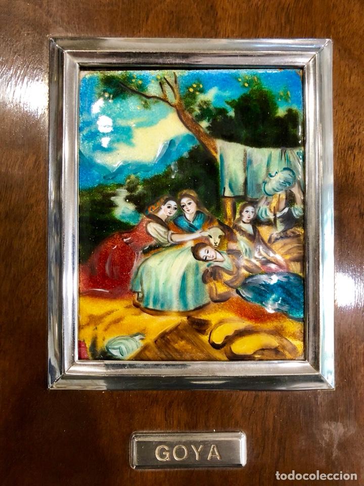 Varios objetos de Arte: PAREJA DE CUADROS DE GOYA ESMALTADOS AL FUEGO - Foto 2 - 135479870