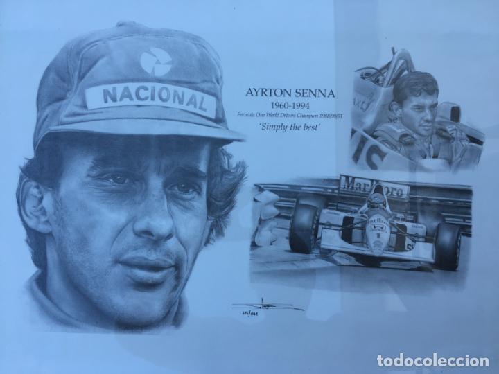 Varios objetos de Arte: CUADRO DE AYRTON SENNA - 1960 / 1994 - SIMPLY THE BEST. - Foto 3 - 135951050