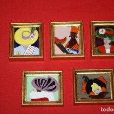 Varios objetos de Arte: SOMBREROS. CINCO ESMALTES ARTESANALES HECHOS AL HORNO.. Lote 26813284