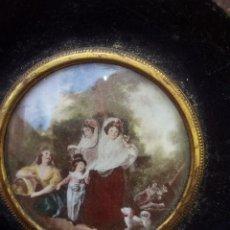 Varios objetos de Arte: CUADRO MINIATURA ANTIGUO,. Lote 136492370
