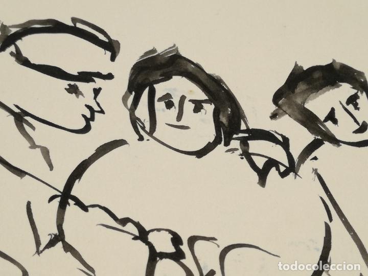 Varios objetos de Arte: PINTOR OCAÑA PERSONAJES TRIO FIRMADO - Foto 4 - 137318786