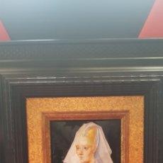 Varios objetos de Arte: RETRATO DE DAMA REALIZADO EN ESMALTE SOBRE COBRE A MANO POR FELIPE HERRANZ. Lote 137631302