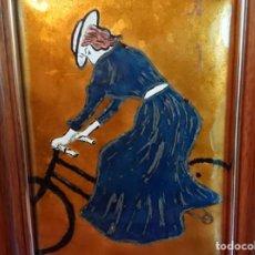 Varios objetos de Arte: ESMALTE AL FUEGO SOBRE PLACA DE COBRE. Lote 137859810