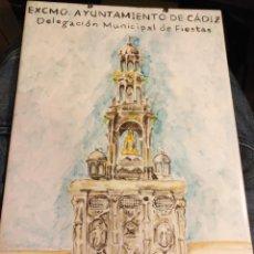 Varios objetos de Arte: AZULEJO CERAMICO PINTADO A MANO CONCURSO EXORNOS CADIZ AYUNTAMIENTO CORPUS CHRISTI AL´MO-JARRA . Lote 139108778