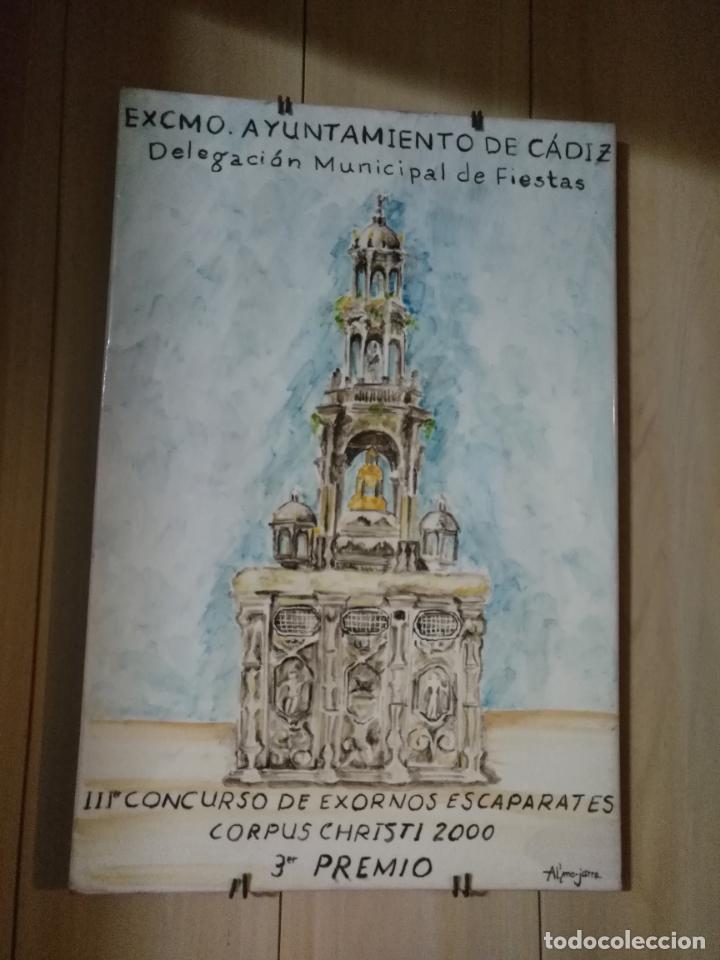 Varios objetos de Arte: azulejo ceramico pintado a mano concurso exornos cadiz ayuntamiento corpus christi al´mo-jarra - Foto 2 - 139108778