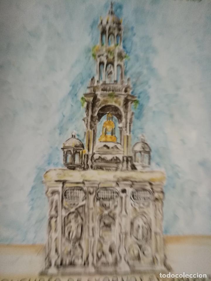 Varios objetos de Arte: azulejo ceramico pintado a mano concurso exornos cadiz ayuntamiento corpus christi al´mo-jarra - Foto 4 - 139108778