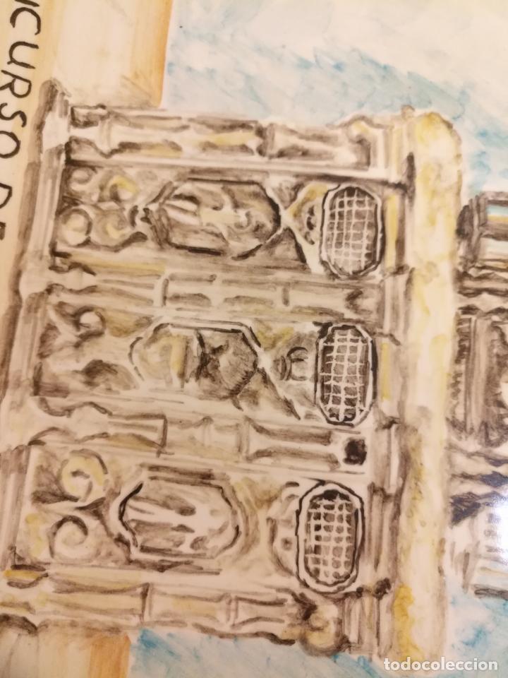 Varios objetos de Arte: azulejo ceramico pintado a mano concurso exornos cadiz ayuntamiento corpus christi al´mo-jarra - Foto 5 - 139108778