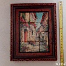 Varios objetos de Arte: CUADRO PINTADO A MANO EN BALDOSA, MUY BONITO. Lote 139423962