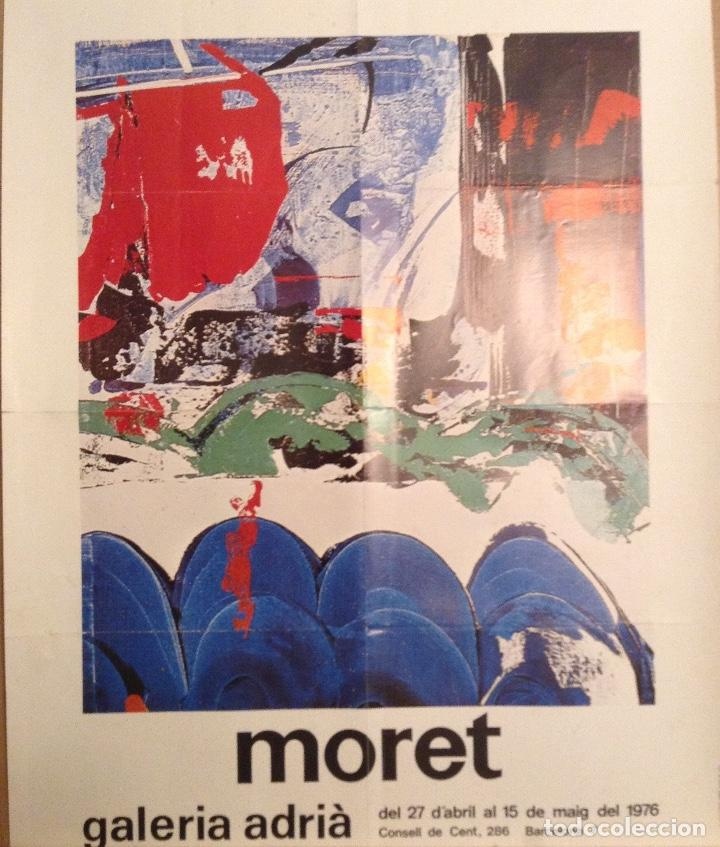 MORET CARTEL EXPOSICIÓN GALERIA ADRIA 1976 (Arte - Varios Objetos de Arte)