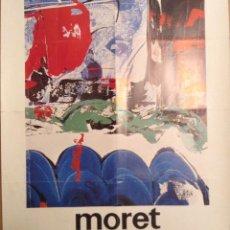 Varios objetos de Arte: MORET CARTEL EXPOSICIÓN GALERIA ADRIA 1976. Lote 139892390