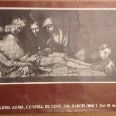 Varios objetos de Arte: BOIX CARTEL EXPOSICION GALERIA ADRIA 1976. Lote 139893990