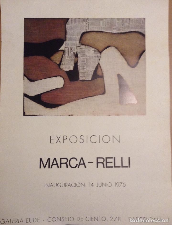 MARCA RELI CARTEL EXPOSICIÓN GALERIA EUDE 1976 (Arte - Varios Objetos de Arte)