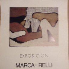 Varios objetos de Arte: MARCA RELI CARTEL EXPOSICIÓN GALERIA EUDE 1976. Lote 139895022
