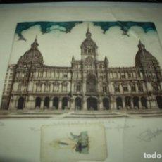 Varios objetos de Arte: AYUNTAMIENTO DE CORUÑA FIMADO POR SAMPEDRO ( ROTO). Lote 140142550