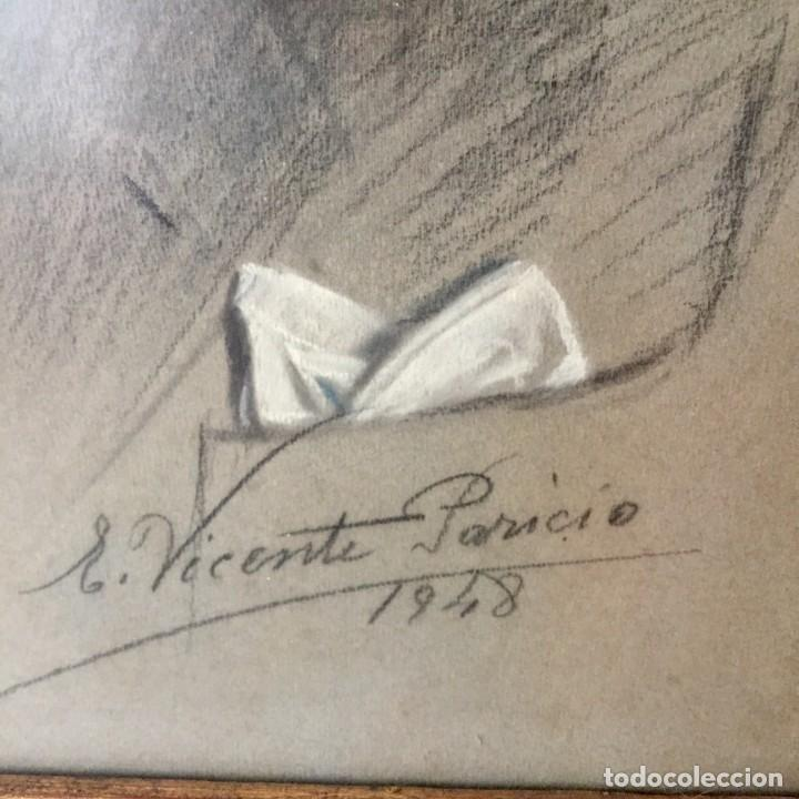 Varios objetos de Arte: Retrato pintado por Vicente Paricio - 1948 - Magnífico marco - Foto 6 - 140577090