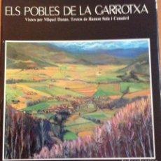 Varios objetos de Arte: DIBUJO ORIGINAL DE MIQUEL DURAN EN EL LIBRO ELS POBLES DE LA GARROTXA TEXTOS DE RAMON SALA CANADELL. Lote 140604506