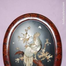 Varios objetos de Arte: PLAFON OVALADO ESCULTURA GALLO. Lote 140884082
