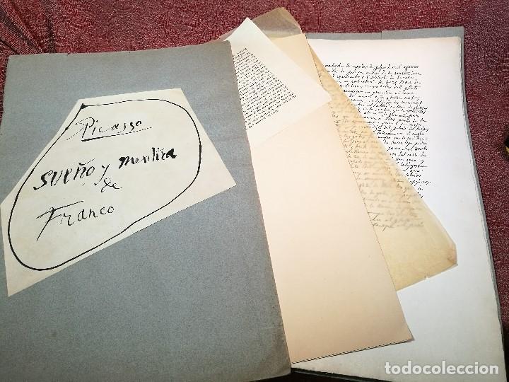 Varios objetos de Arte: PORTAFOLIO Y POEMA FANDANGO DE LAS LECHUZAS--SUEÑO Y MENTIRA DE FRANCO. GUERNICA 1937..PICASSO-REF-D - Foto 2 - 141135290
