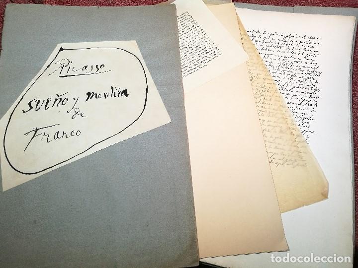 Varios objetos de Arte: PORTAFOLIO Y POEMA FANDANGO DE LAS LECHUZAS--SUEÑO Y MENTIRA DE FRANCO. GUERNICA 1937..PICASSO-REF-D - Foto 3 - 141135290