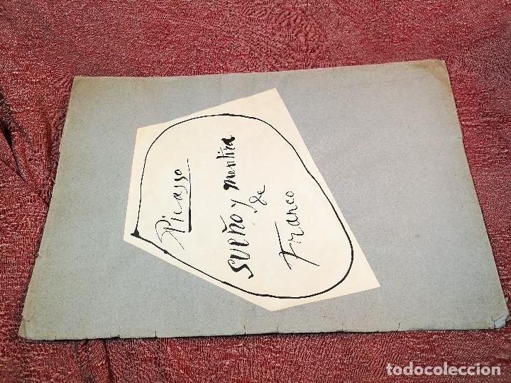Varios objetos de Arte: PORTAFOLIO Y POEMA FANDANGO DE LAS LECHUZAS--SUEÑO Y MENTIRA DE FRANCO. GUERNICA 1937..PICASSO-REF-D - Foto 39 - 141135290