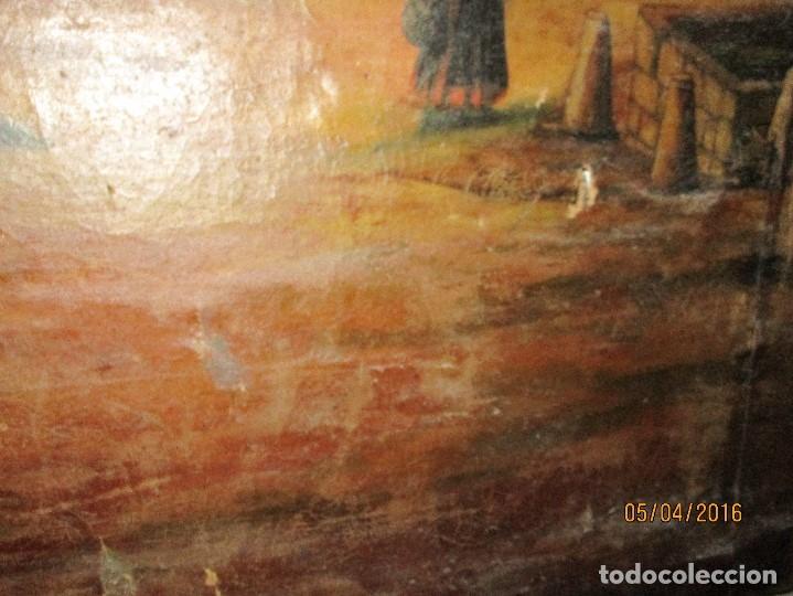 Varios objetos de Arte: ENORME PINTURA ANTIGUA OLEO LIENZO SIGLO XIX XVIII 150 X 120 - Foto 18 - 82969376