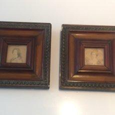 Varios objetos de Arte: 2 ANTIGUOS RETRATOS. Lote 142050517